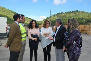 Susana Díaz en Aserraderos de villaviciosa